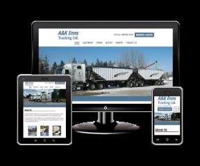 A&K Enns Trucking Responsive Design
